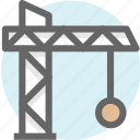 building, construction, house, tower crane icon