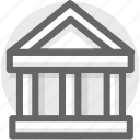 bank, building, government, house icon