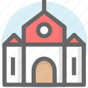 building, chapel, church, house, park icon