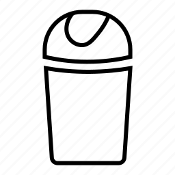 delete, dustbin, garbage, recycle bin, remove, trash, wastebin icon