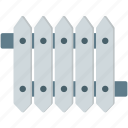 draws, fence, fences, garden, picket, picket fence, protection icon