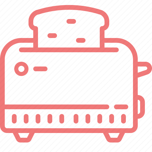 bread, device, electronic, house, kitchen, toaster icon