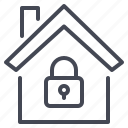 home, lock, safety, security icon