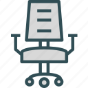 chair, desk, office, rest, seat, work icon