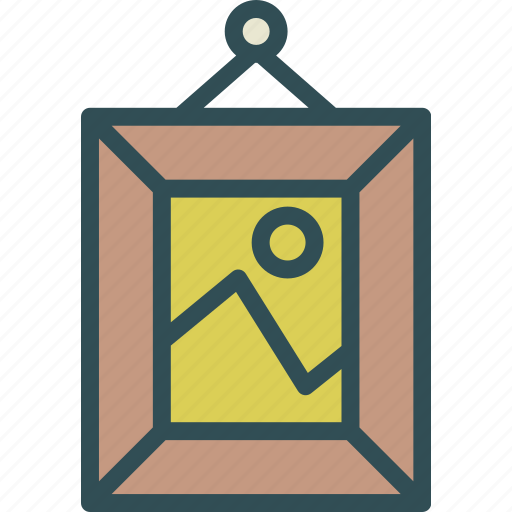 decor, frame, landscape, picture icon