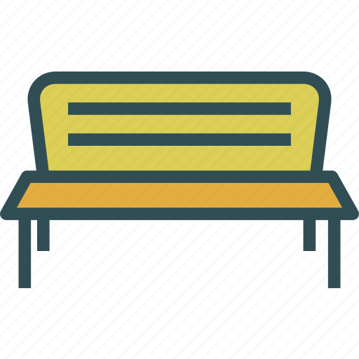 bench, rest, seating icon