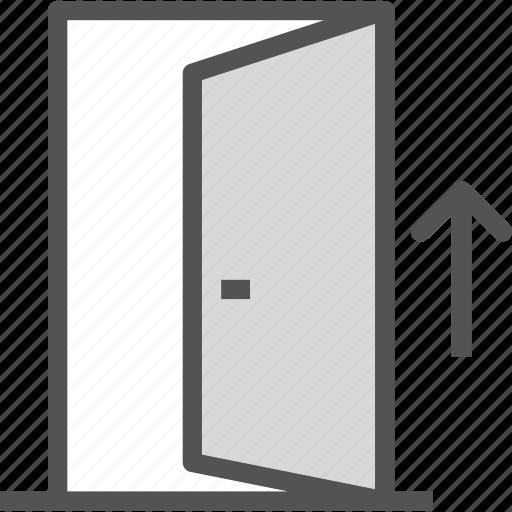 arrow, door, entrance, exit icon