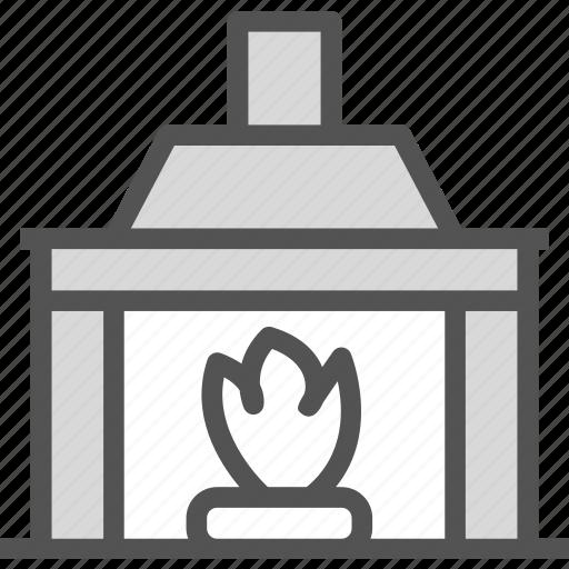 decor, enjoy, fire, fireplace, rest, wood2 icon
