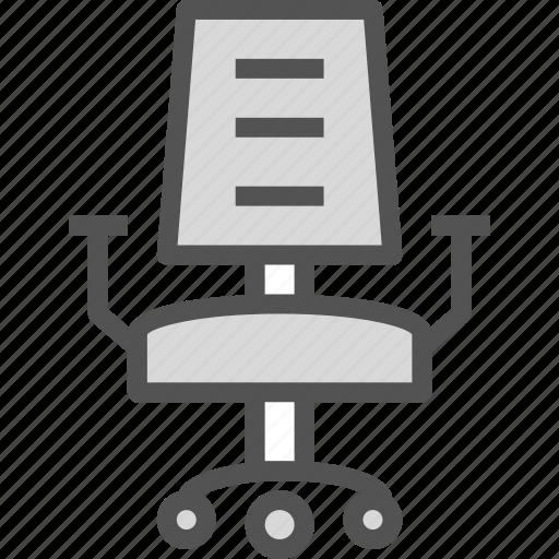 chair, desk, office, rest, seat, work icon