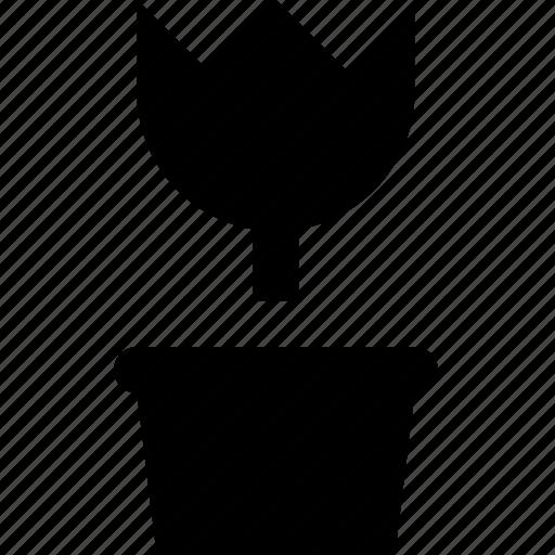 pot, tulip icon