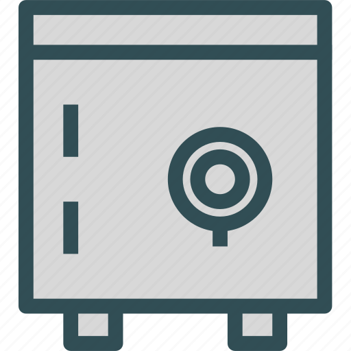 documents, money, protection, safe, seif icon