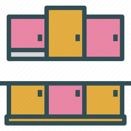 cabinets, furniture, kitchen icon