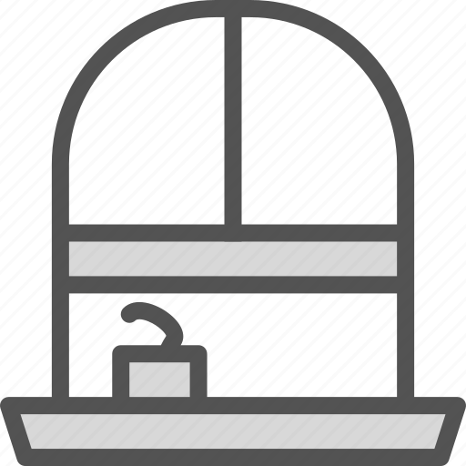 interior, outdoor, roundwindow icon