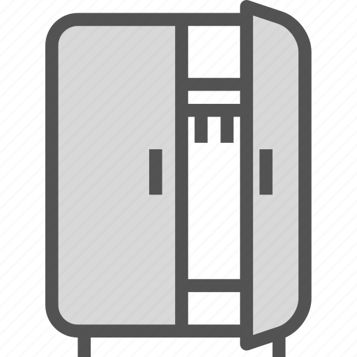 furniture, opencloset, wardrobe icon
