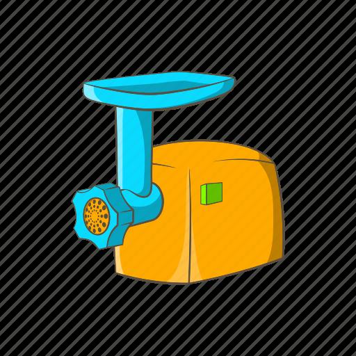 appliance, cartoon, design, electric, grinder, machine, sign icon
