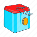 cartoon, cooking, food, fryer, kitchen, oil, sign icon