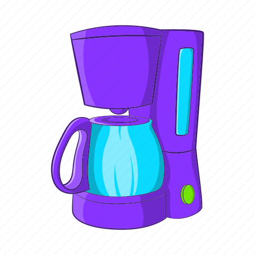 breakfast, cartoon, coffee, drink, espresso, maker, sign icon