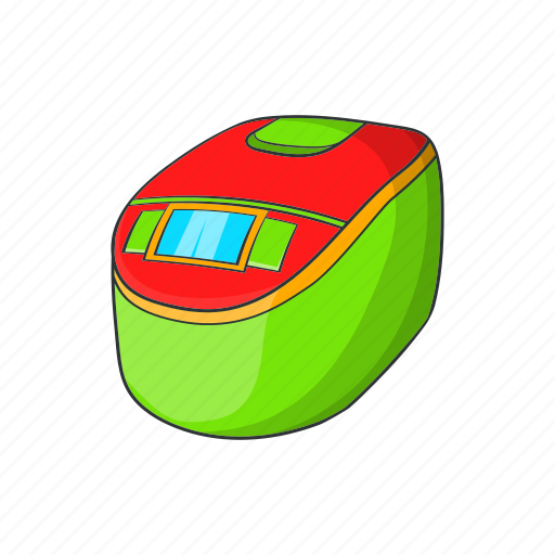 appliance, cartoon, cooker, electric, pot, sign, slow icon