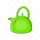 cartoon, kettle, kitchen, sign, tea, teapot, water icon