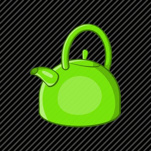 cartoon, kettle, kitchen, sign, tea, teapot, water icon
