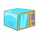 cartoon, equipment, kitchen, microwave, sign, technology icon