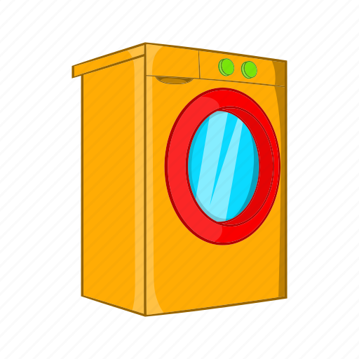 cartoon, cloth, laundry, machine, sign, wash, washer icon