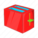 breakfast, cartoon, equipment, food, sign, toast, toaster icon