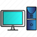 appliance, computer, desktop, home, house, household icon