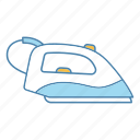appliance, electric, iron, ironing, laundry, steam generating, steam iron icon