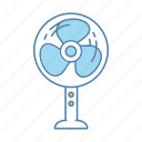 cooler, cooling fan, fan, floor, stand fan, standing, ventilator icon