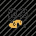 sponge, scrubbing, oil, stains