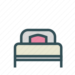 bed, bedroom, furniture, home, house icon