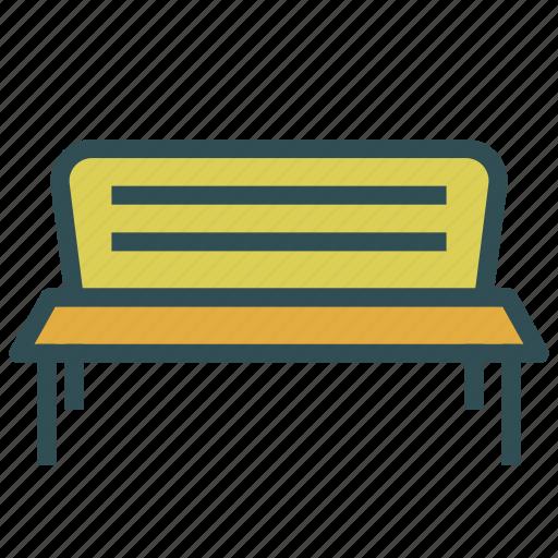bench, furniture, garden, park icon