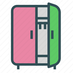 cabinet, closet, clothes, furniture, home, house icon