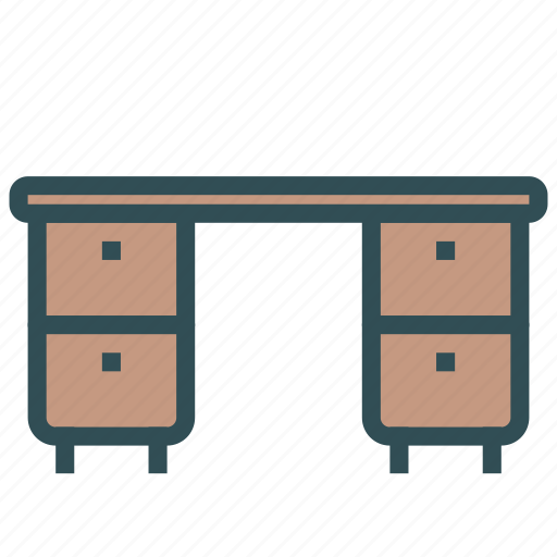 desk, drawers, furniture, home, house icon