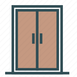 big, door, entrance, house, two icon