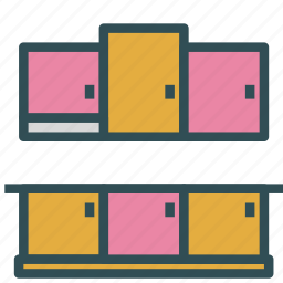 closet, furniture, kitchen icon