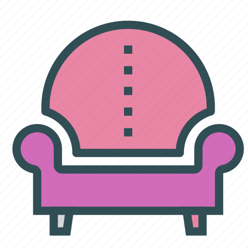 chair, furniture, home, house, leather icon