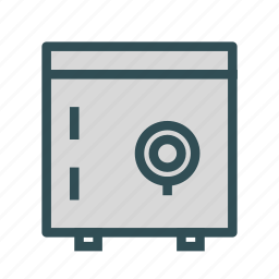 box, lock, safe, secure icon