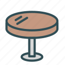 furniture, home, house, round, table icon