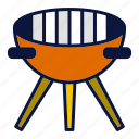 appliance, bachelor, cooking, griller, household devices icon