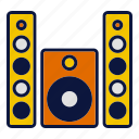 appliance, household devices, sound, speaker, volume icon