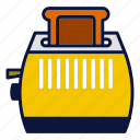 appliance, breakfast, food, household devices, toaster icon