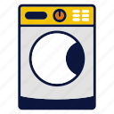 appliance, cleaning, household devices, laundry, machine, washing icon