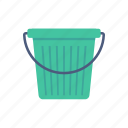 basket, cleaning, dusting, water icon