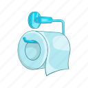 bathroom, cartoon, cleaner, hygiene, paper, roll, toilet icon