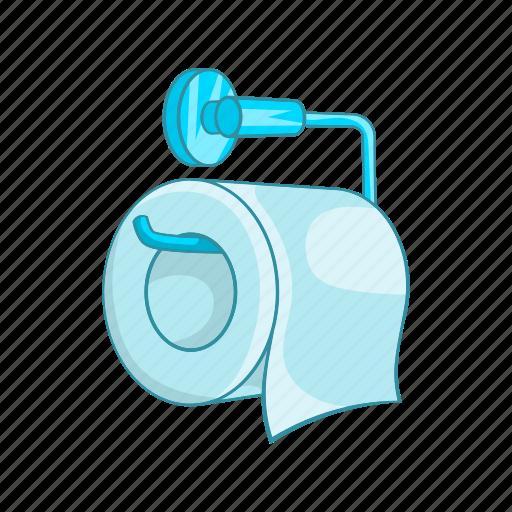bathroom, cartoon, cleaner, hygiene, paper, roll, toilet icon