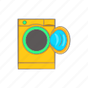 appliance, cartoon, clean, equipment, laundry, machine, wash icon