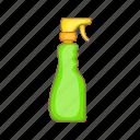 cleaner, plastic, spray, aerosol, sprayer, bottle, cartoon