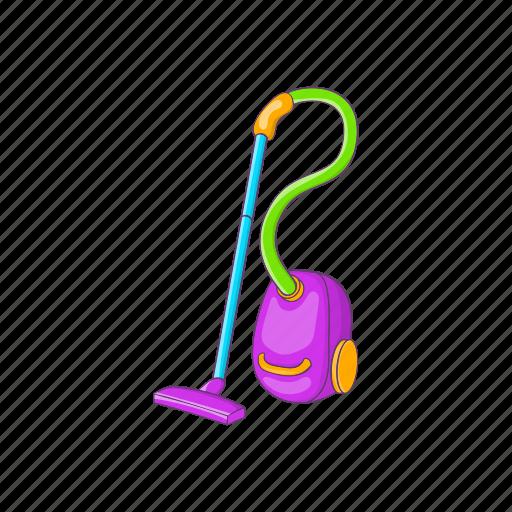 cartoon, clean, domestic, electrical, equipment, home, vacuum icon